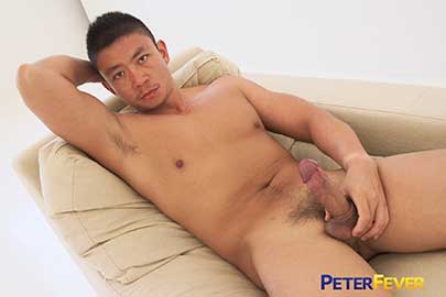 From PeterFever East comes this tasty glimpse into the private moments when hot Asian stud Hiroshi has nothing on his mind but pleasuring himself.