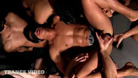 Blindfolded, the Japanese hunk's TR-NA006 heart races as his imagination starts to run wild with sounds of feet shuffling towards him. When hands begin to grope every part of his body...